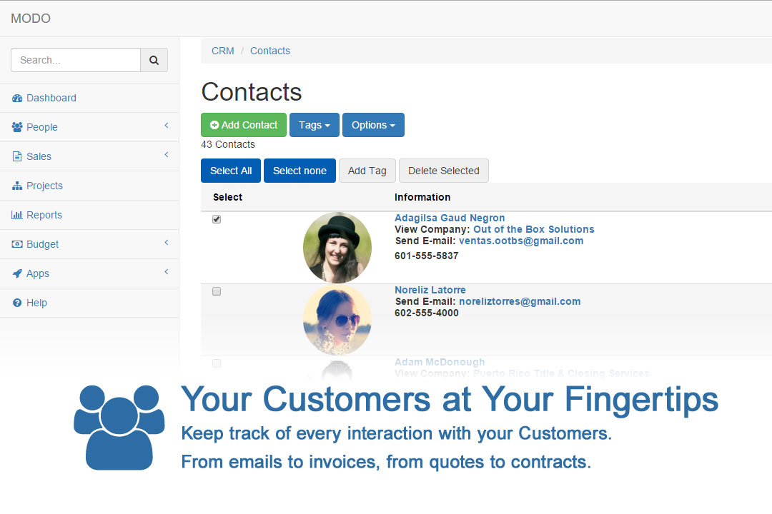your customers at your fingertips