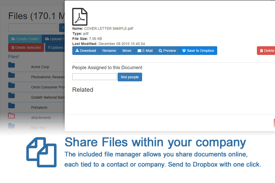 share your files within your company